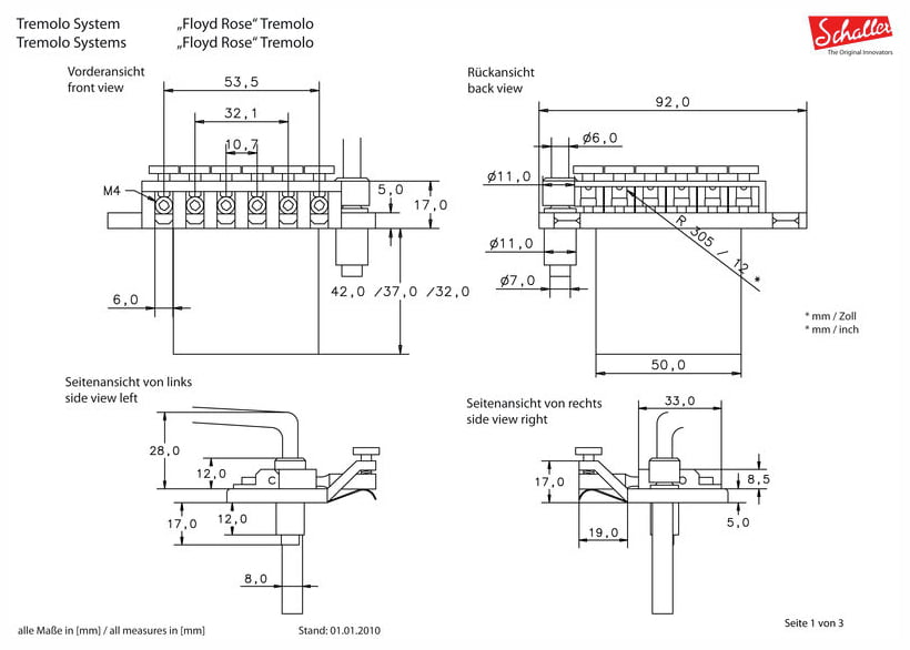 Floyd rose tremolo diagram floyd rose bridge diagram for Floyd rose routing template