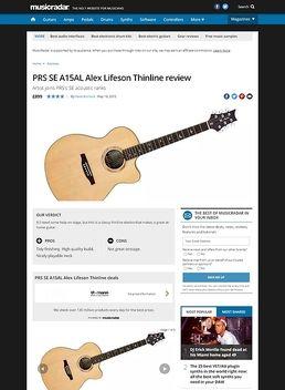 PRS SE A15AL Alex Lifeson Thinline