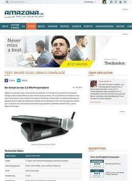 Test: Shure GLXD, digitales Funksystem