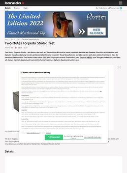 Two Notes Torpedo Studio
