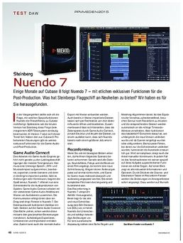 Nuendo 7 Update from V6 NEK