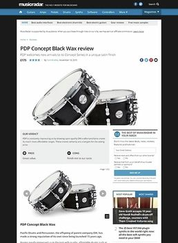 """PDP 14""""x6,5"""" Black Wax Snare"""