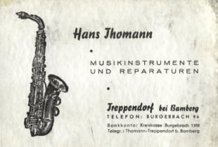 visiting card hans thomann