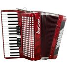 Startone Piano Accordion 72 Red
