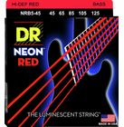 DR Strings HiDef Red Neon Medium 5 45-125