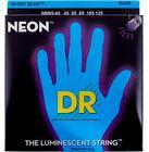 DR Strings HiDef Blue Neon Medium5 45-125