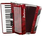 Piano Accordion 72 Red Startone