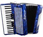 Piano Accordion 72 Blue Startone