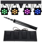 Stairville CLB4 Compact LED Bar 4 Bundle