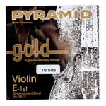 Pyramid Gold Violin String E1/2
