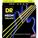 DR Strings NYB-45 Strings Set Neon Yellow