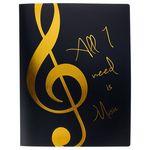 A-Gift-Republic Portfolio Violin Clef Bl/Gold