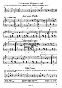 """Notenseite """"Stummer Fingerwechsel-Stützfinger"""""""