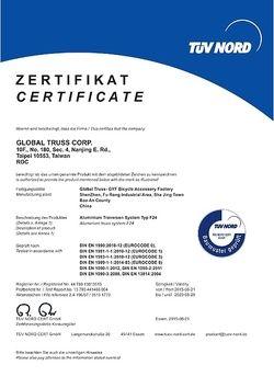 TÜV Certificate