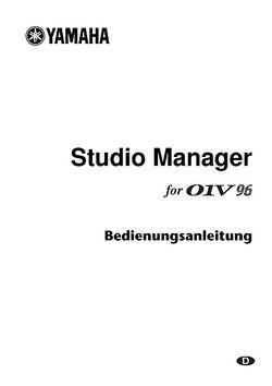 Studiomanager Manual