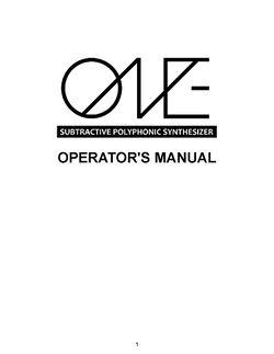 Manual One