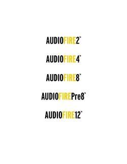 Echo Audiofire series Win manual