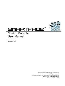 ETC Smartfade Manual