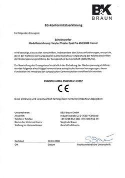 CE-Konformitätserklärung
