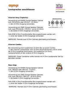 Anschluss-Beschreibung