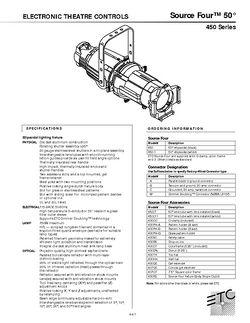ETC Source Four 36° Profiler Specs