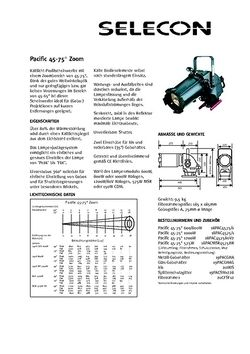 Selecon Pacific 45° - 75° Datenblatt