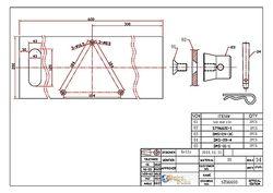 Technische Zeichnung: Bodenplatte
