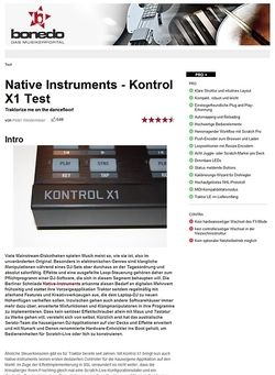 Bonedo.de Native Instruments - Kontrol X1
