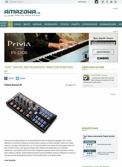 Amazona.de Test: Native Instruments Traktor Kontrol X1
