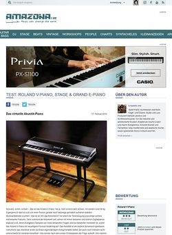 Amazona.de Test: Roland V-Piano