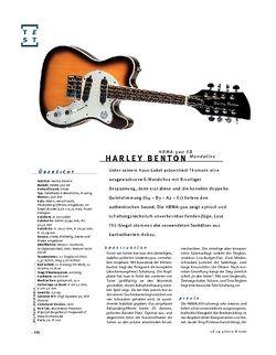 Gitarre & Bass Harley Benton HBMA-500 SB, E-Mandoline