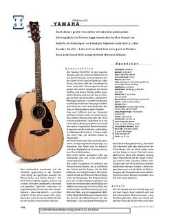 Gitarre & Bass Yamaha FGX720SC, Akustik-Gitarre