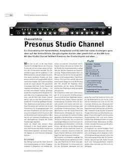 Sound & Recording Presonus Studio Channel
