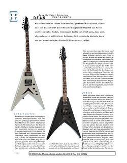 Gitarre & Bass Dean Dave Mustaine Signature VMNT & VMNT X, E-Gitarren