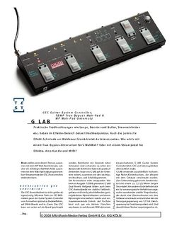 Gitarre & Bass G-LAB GSC Guitar System Controller