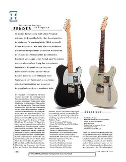Gitarre & Bass Im Vergleich: Fender Telecaster Pickups