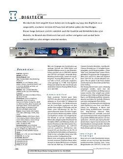 Gitarre & Bass DigiTech GSP-1101, Preamp/Effekt-Amp-Modeling-Prozessor