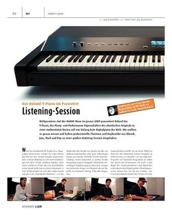 Keyboards Roland V-Piano - Pianisten testen das neue Digitalpiano