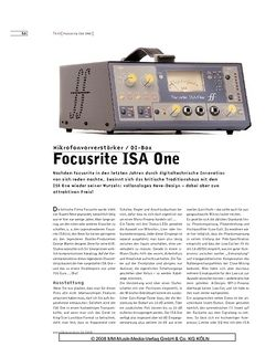 Sound & Recording Focusrite ISA One