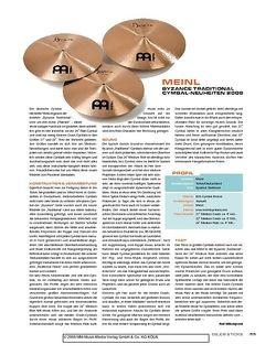 Sticks Meinl Byzance Traditional Cymbal-Neuheiten