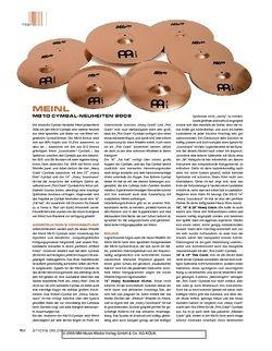 Sticks MeinlL Mb10 Cymbal-Neuheiten 2008