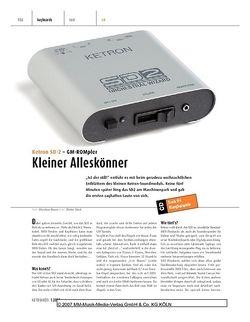 Keyboards Ketron SD-2 GM-ROMpler