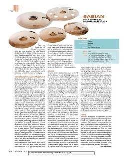 Sticks Sabian HHX Cymbal-Neuheiten 2007