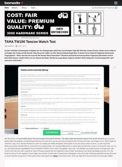 Bonedo.de Tama TW100 Tension Watch