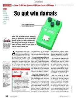 Soundcheck Test: Ibanez TS-808 Tube Screamer, CS9 Stereo Chorus & FL9 Flanger