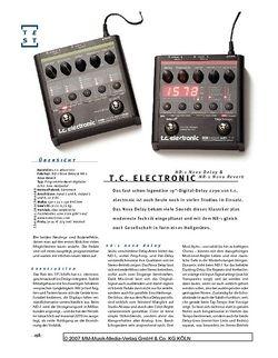 Gitarre & Bass t.c. electronic ND-1 Nova Delay & NR-1 Nova Reverb, FX-Pedale