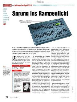 Soundcheck Test: Behringer Eurolight LC2412 - Lichtmischpult