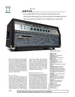 Gitarre & Bass Ampeg SVT VR, Bass-Top