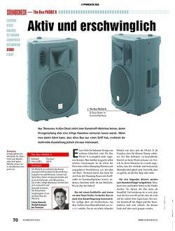 Soundcheck Test: The Box PA302 A - Bi-Amp-Box