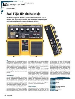 Guitar gear-special Effekte - Boss Twin-Pedale